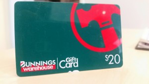 Bunnings $20 gift card giveaway for Homemasters building and pest inspections company